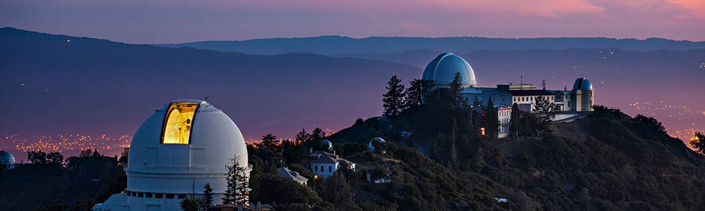 lick observatory evening with the stars